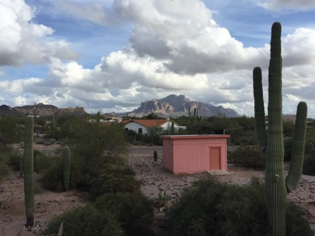 Superstition Mountains as viewed from my parent's