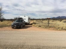 Enterance to Cieneguita Camping Area off main Las Cienegas road