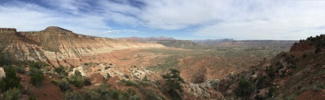 View from part way up the mesa