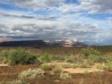 Sun highlighting Zion National Park