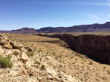 Looking northish up Marble Canyon. Vermillion Cliffs in the distance.