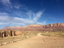 From the end of the road looking west towards Vermillion Cliffs