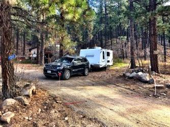 Road trip storage spot.