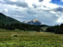 Crested Butte Mountain from the camping spot.