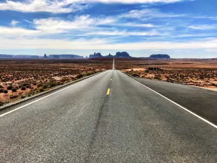 """Yes, we took a trip to the """"famous"""" spot outside Monument Valley."""