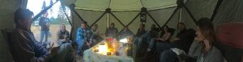 Inside the tents (photo: Jen Nealy)