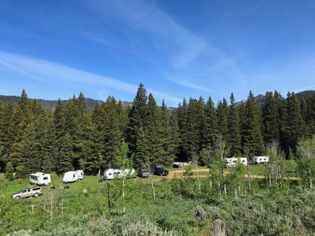 Lower Targhee Trailhead compound in full force