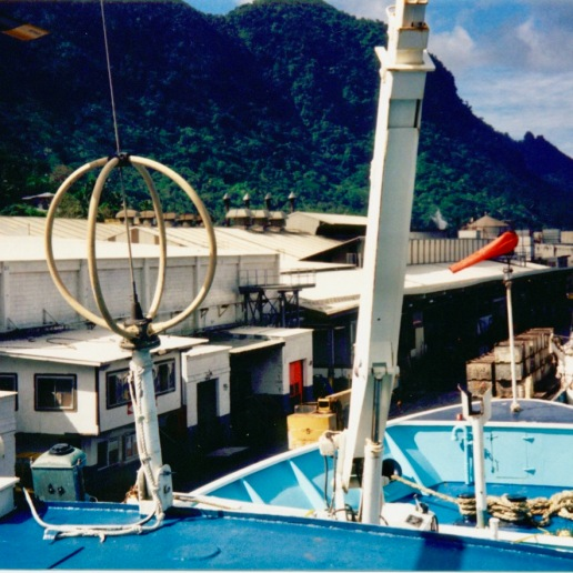 The Auro unloading the previous voyage's haul at the cannery (this is where the ship was when I arrived)