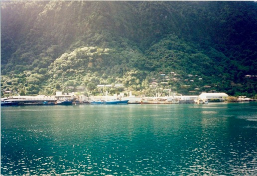 Cannery in Pago Pago Harbor (American Samoa) as viewed from the fuel dock side of the harbor