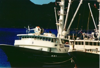 The Captain MJ Souza (ship on the left) in Pago Pago Harbor (American Samoa)