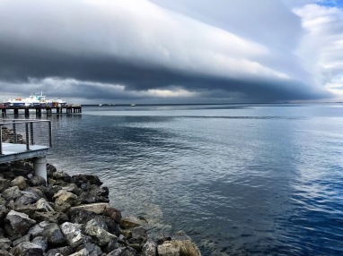 Storm rolling into Port Angeles