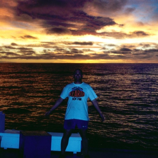 """Me strking a """"cool"""" pose at sunset"""