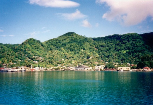 Looking across Pago Pago Harbor (American Samoa) from the cannery side