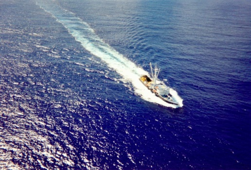 Another purse seiner in the middle of the Pacific