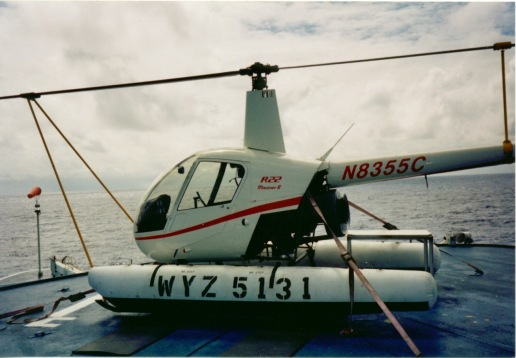 The Auro's R22 Mariner strapped down on the roof