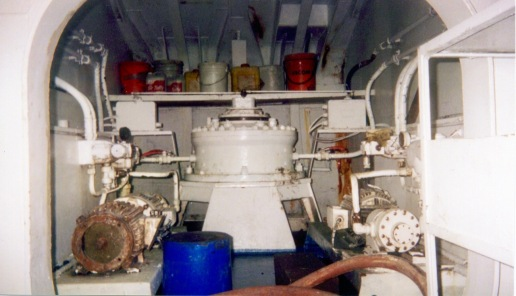 The Auro's steering room - way down below deck and all the way back