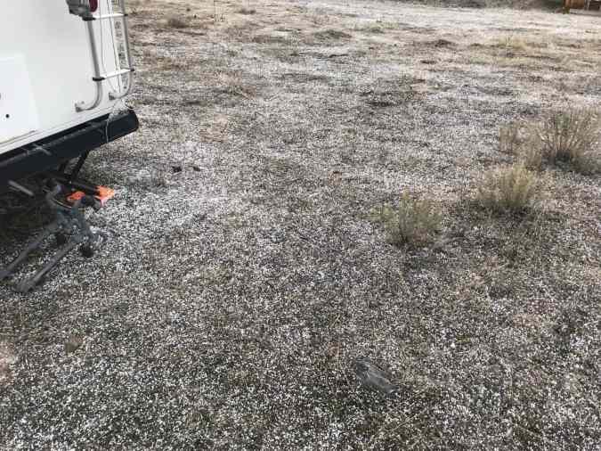 hail on ground